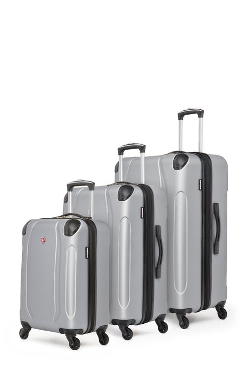 Swissgear Central Lite Collection Hardside Luggage 3 Piece Set - Silver