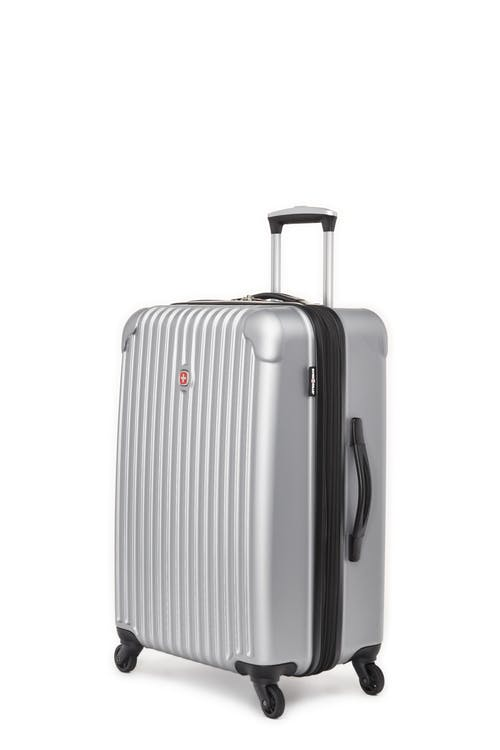 """Swissgear Linigno Collection 24"""" Expandable Hardside Luggage - Silver"""