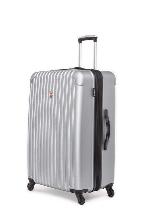 """Swissgear Linigno Collection 28"""" Expandable Hardside Luggage - Silver"""