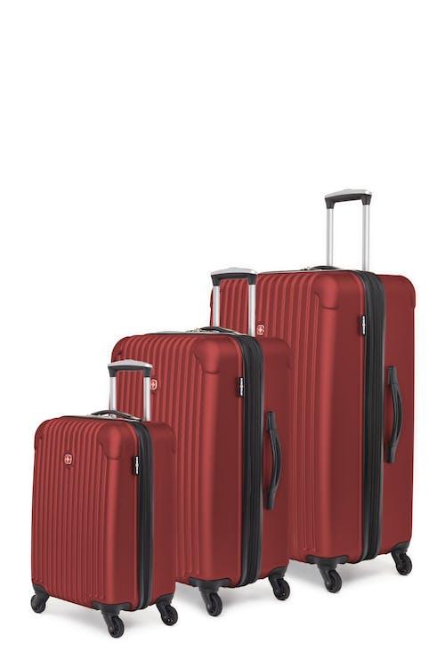 Swissgear Linigno Collection Hardside Luggage 3 Piece Set - Burgundy