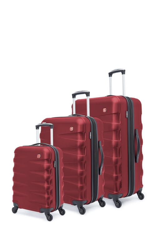Swissgear Waddington Collection Hardside Luggage 3 Piece Set - Red