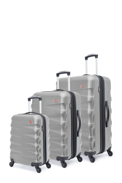 Swissgear Waddington Collection Hardside Luggage 3 Piece Set - Silver