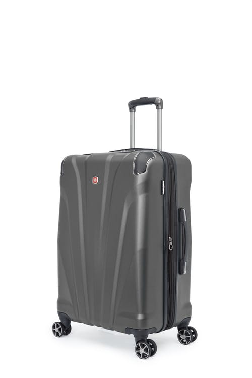 "Swissgear Global Traveller Collection 24"" Expandable Hardside Luggage - Charcoal"