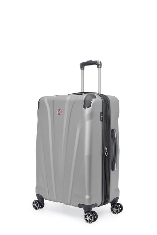 "Swissgear Global Traveller Collection 24"" Expandable Hardside Luggage - Silver"