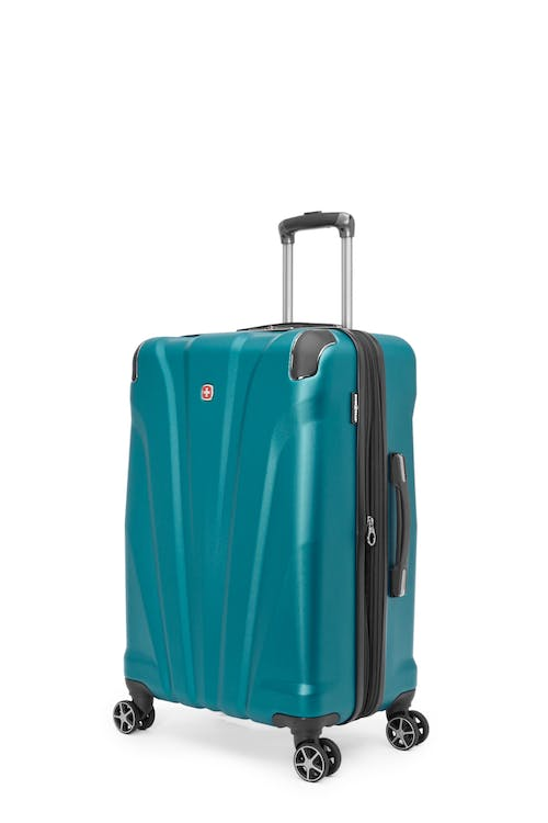 "Swissgear Global Traveller Collection 24"" Expandable Hardside Luggage - Teal"