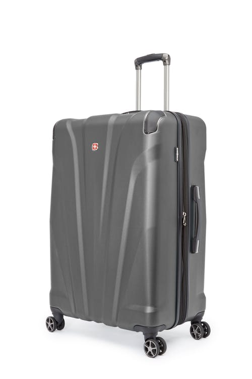 """Swissgear Global Traveller Collection 28"""" Expandable Hardside Luggage - Charcoal"""