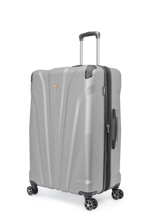 """Swissgear Global Traveller Collection 28"""" Expandable Hardside Luggage - Silver"""