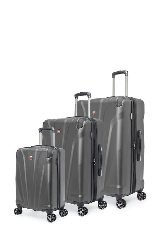 Swissgear Global Traveller Collection Expandable Hardside Luggage 3 Piece Set - Charcoal