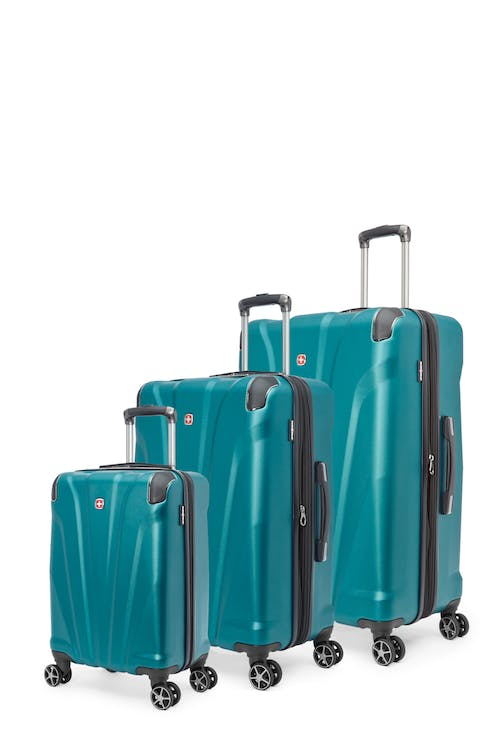 Swissgear Global Traveller Collection Expandable Hardside Luggage 3 Piece Set - Teal