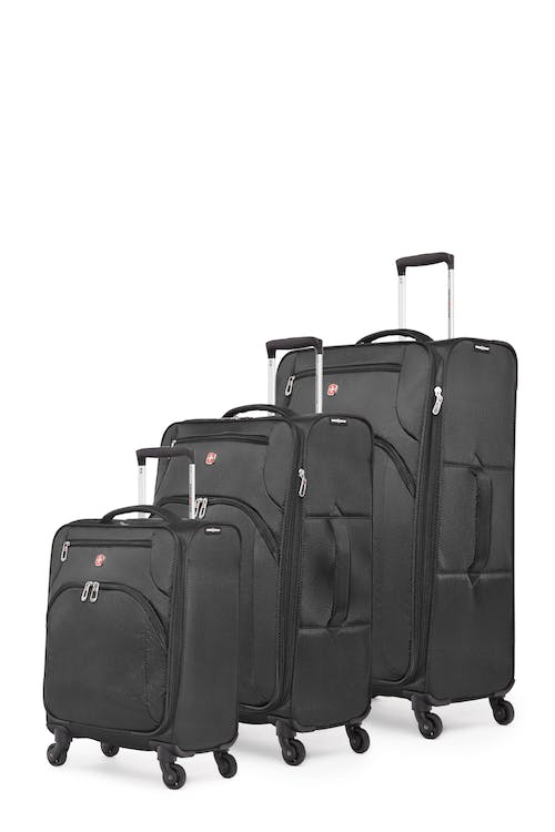 Swissgear Super Lite II Collection Upright Luggage 3 Piece Set - Black
