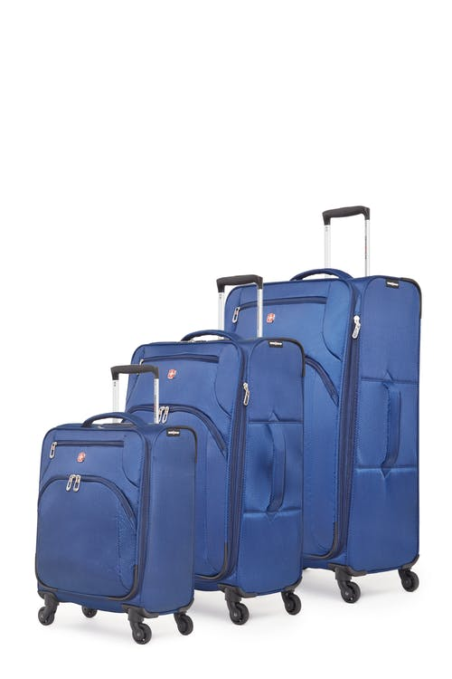 Swissgear Super Lite II Collection Upright Luggage 3 Piece Set - Navy