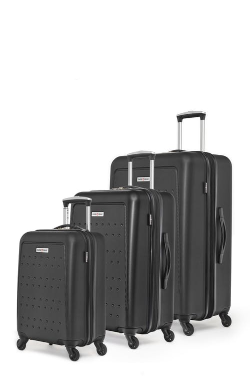 Swissgear 3D Lite Collection Hardside Luggage 3 Piece Set - Black