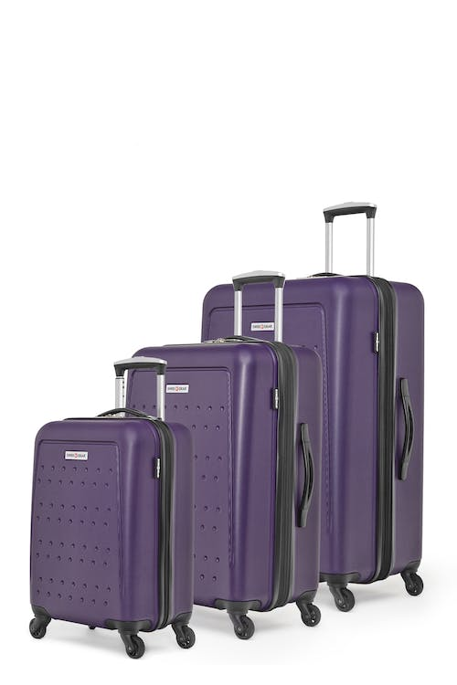 Swissgear 3D Lite Collection Hardside Luggage 3 Piece Set - Purple