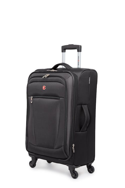 """Swissgear Payerne Collection 24"""" Expandable Upright Luggage - Black"""
