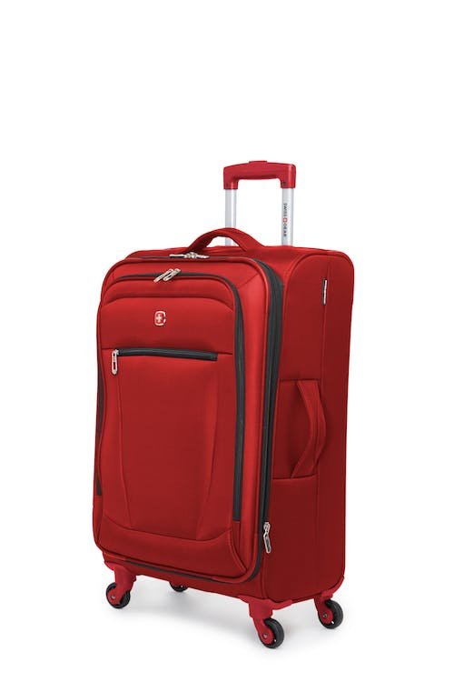 """Swissgear Payerne Collection 24"""" Expandable Upright Luggage - Red"""
