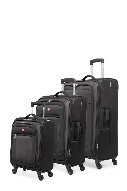 Swissgear Payerne Collection Upright Luggage 3 Piece Set - Black