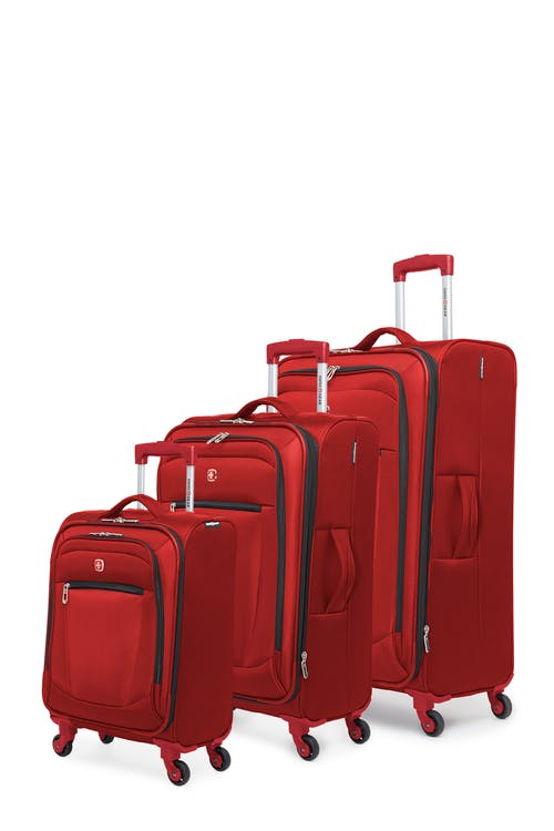Swissgear Payerne Collection Upright Luggage 3 Piece Set - Red