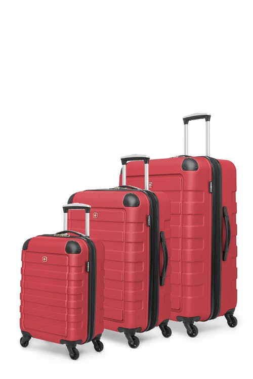 Swissgear Meligen Collection Hardside Luggage 3 Piece Set - Red