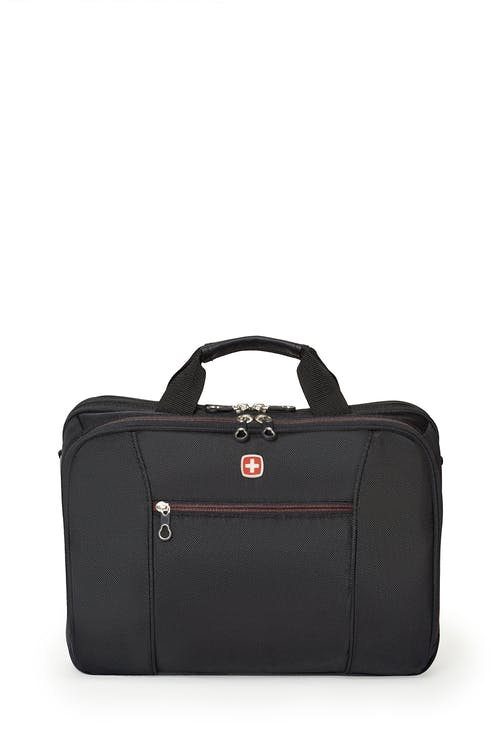 Swissgear 0907 Computer Friendly Briefcase  Front zippered organizer compartment