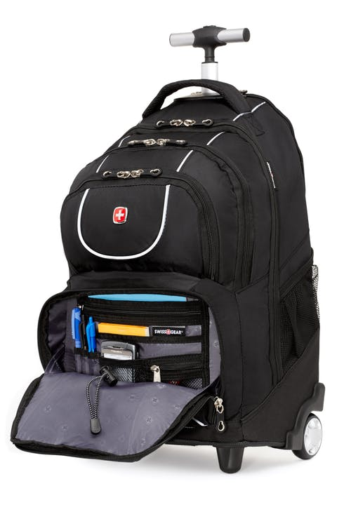 Swissgear 0961 Wheeled 15-inch Laptop Backpack  Front zippered organizer compartment