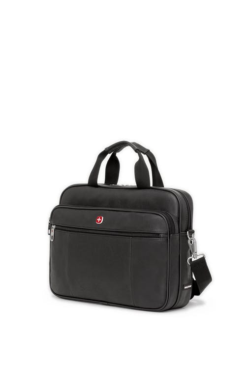 Swissgear 0984 Faux Leather 15-inch Laptop Briefcase - Black