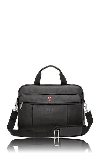 Swissgear 0984 Faux Leather 15-inch Laptop Briefcase - Black