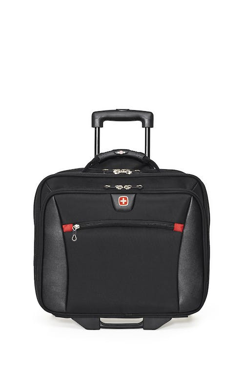 Swissgear SWA0990 - 15-inch Laptop Wheeled Computer Business Case  Front zippered organizer compartment