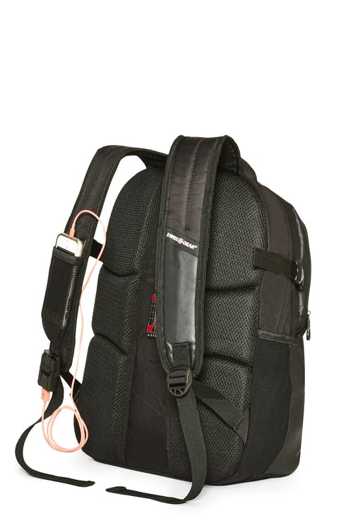 Swissgear 2504 15-inch Computer and Tablet Backpack with USB Port  Phone pocket within shoulder strap