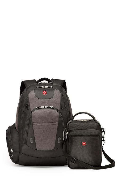 Swissgear 2602 17-inch Side Load Computer Backpack and Fully Insulated Lunchbox Bundle