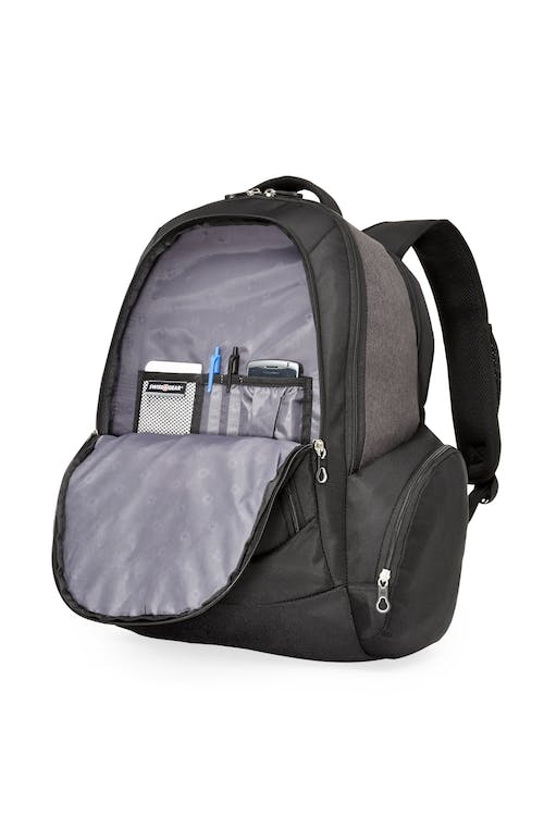 Swissgear SWA2603 17-inch side load computer backpack  Front zippered organizer