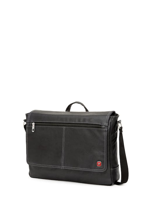 Swissgear 5115 Faux Leather 15-inch Laptop Messenger Bag - Black