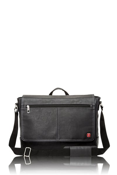 Swissgear 5115 Faux Leather 15-inch Laptop Messenger Bag - Black
