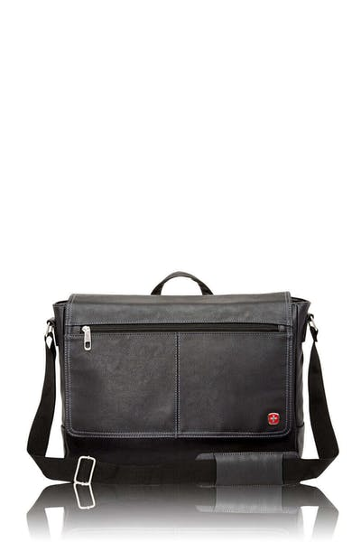 Swissgear 5122 Leather 15-inch Laptop Briefcase - Black