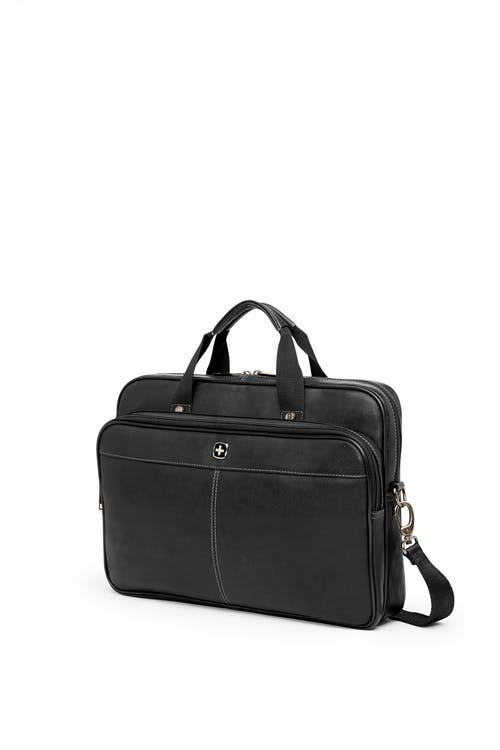 Swissgear 5122 Leather 15-inch Laptop Briefcase - Black