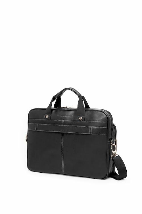 Swissgear 5122 Leather 15-inch Laptop Briefcase  Trolley strap