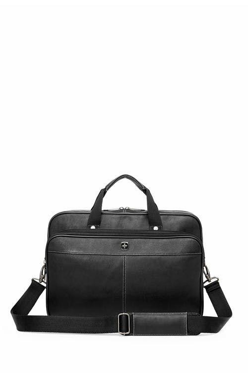 Swissgear 5122 Leather 15-inch Laptop Briefcase  Adjustable and removable shoulder straps