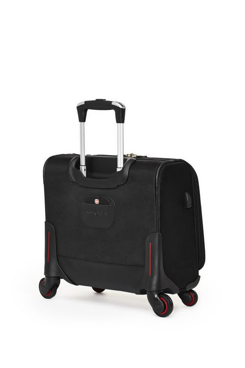 Swissgear 5176 15-inch Laptop 4-wheeled Computer Business Case  A retractable push-button handle that locks