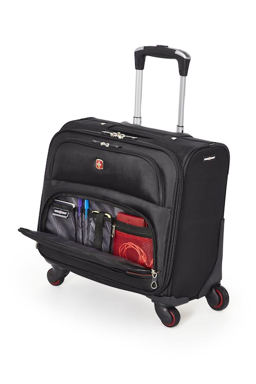 Swissgear 5176 15-inch Laptop 4-wheeled Computer Business Case  Front zippered organizer compartment