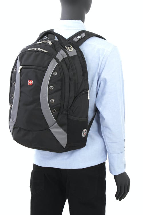 SWISSGEAR 1191 DELUXE LAPTOP BACKPACK PADDED, TOP HANDLE WITH METAL D-RING BUCKLE