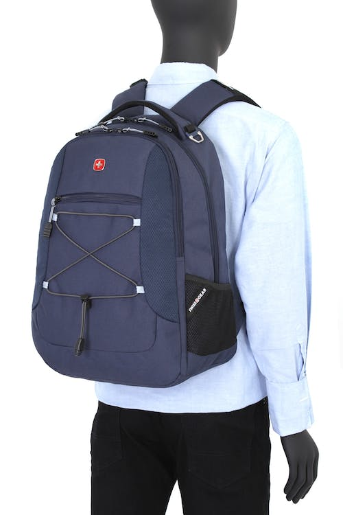 SWISSGEAR 1230 LAPTOP BACKPACK - Front panel bungee cord system to attach gear to