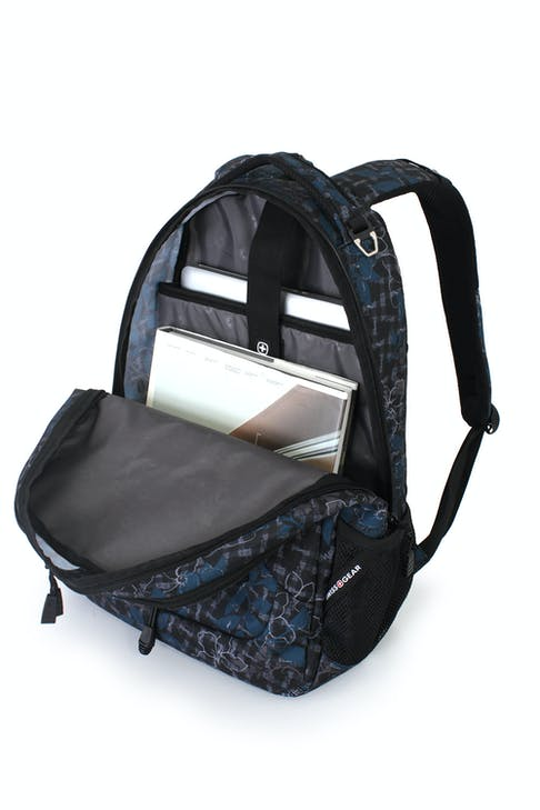 SWISSGEAR 1230 LAPTOP BACKPACK LARGE MAIN COMPARTMENT WITH A DESIGNATED LAP TOP SLEEVE