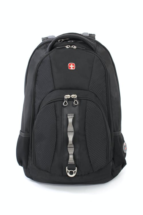 SWISSGEAR 1271 SCANSMART LAPTOP BACKPACK WITH FRONT WEB DAISY CHAIN AND METAL D-RING