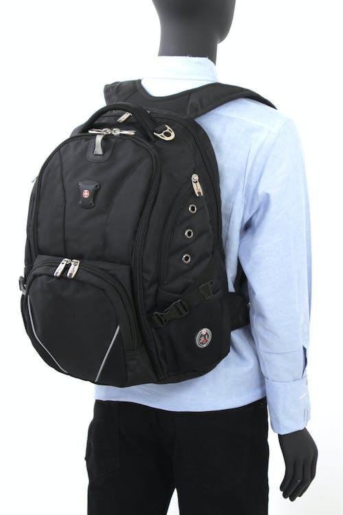 SWISSGEAR 1592 Deluxe Laptop Backpack - Adjustable Waist Belt to Help Support Heavier loads