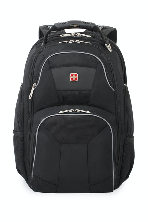SWISSGEAR 1696 SCANSMART LAPTOP BACKPACK REFLECTIVE ACCENT MATERIAL BUILT INTO FRONT PANEL