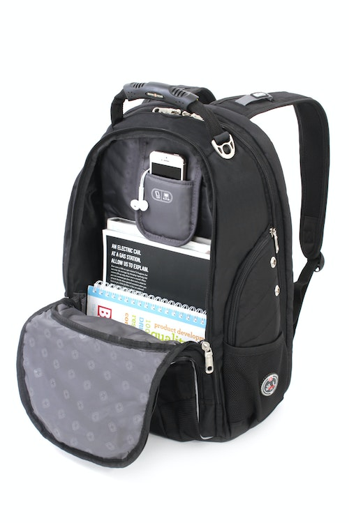 SWISSGEAR 1696 SCANSMART LAPTOP BACKPACK SIDE ZIPPERED LARGE ACCESSORY POCKETS