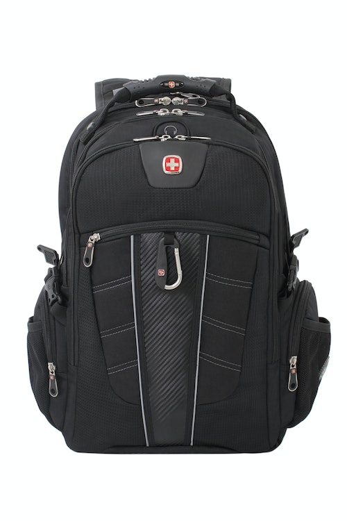 SWISSGEAR 1753 SCANSMART LAPTOP BACKPACK REFLECTIVE ACCENT MATERIAL BUILT INTO FRONT PANEL
