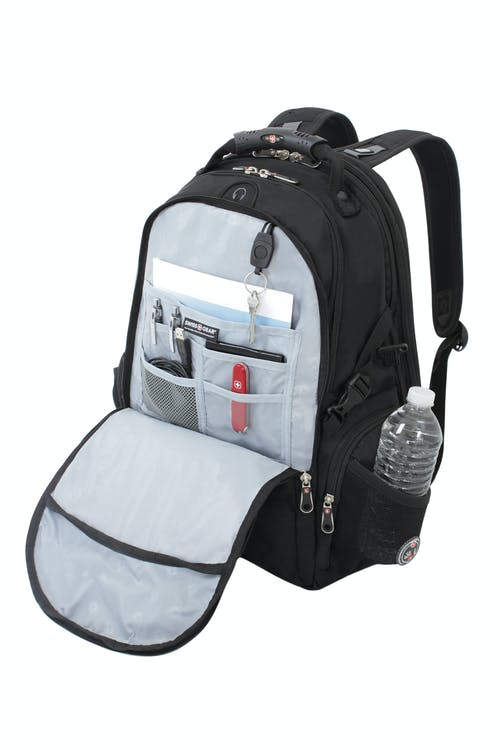 680fbe7202b1 ... REFLECTIVE ACCENT MATERIAL BUILT INTO FRONT PANEL. SWISSGEAR 1753  SCANSMART LAPTOP BACKPACK PADDED
