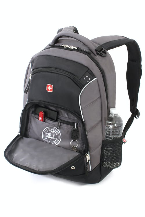 SWISSGEAR 1758 BACKPACK QUICK-ACCESS, FRONT ZIPPERED COMPARTMENT