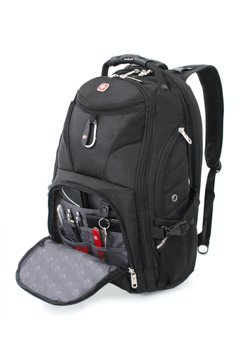 SWISSGEAR 1900 SCANSMART LAPTOP BACKPACK MULTIPLE INTERNAL ACCESSORY POCKETS