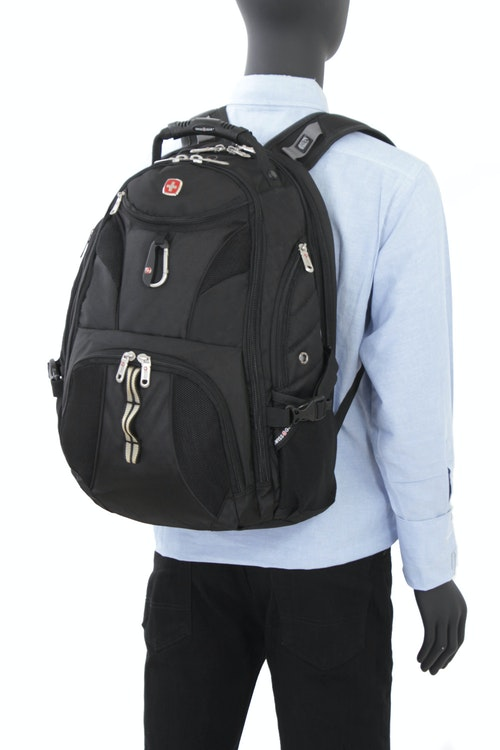 SWISSGEAR 1900 SCANSMART LAPTOP BACKPACK PADDED SHOULDER STRAPS WITH BUILT-IN SUSPENSION